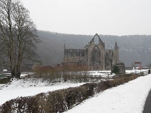 Tintern Abbey has been sugar iced!