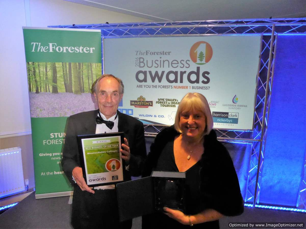 Monmouthshire Cottages wins Eco Business Award 2016