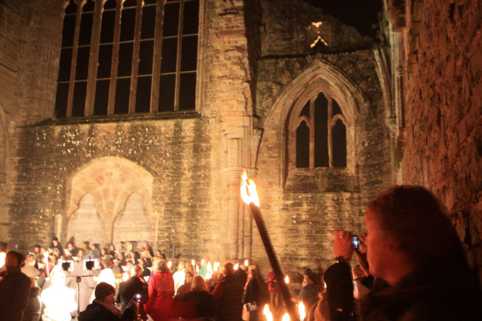 Carols By Torchlight at Tintern Abbey